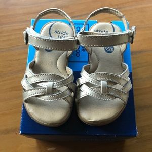 Gold Stride Rite Open-Toed Sandals